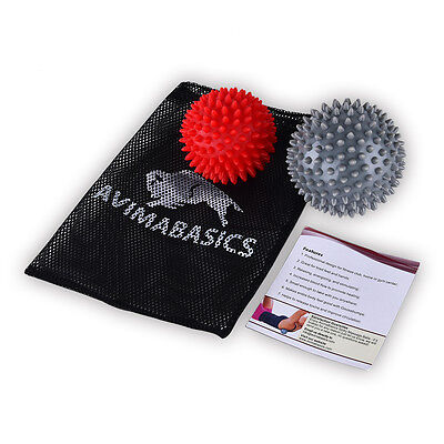 AvimaBasics #1 Spiky Massage Balls Reflexology Foot Body Arm Pain Stress Relief