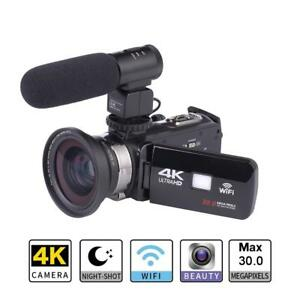 WiFi 4K Ultra HD ZOOM infrared Night Vision DV Digital Video Camera Camcorder UK