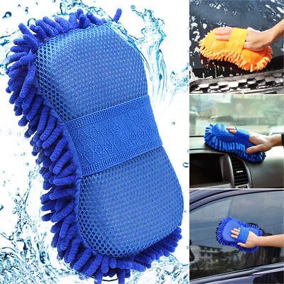 Microfiber Car Vehicle Window Care Washing Brush Sponge Pad Cleaning Gloves UK