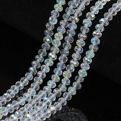 10 Strand Faceted Rondelle Abacus crystal glass beads strand 8x6MM