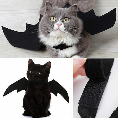 Pet Dog Cat Black Bat Wings Cosplay Wings Costume Party Halloween Decoration - Bat Dog Costume