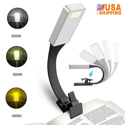 USB Rechargeable Book Reading Light LED Flexible Clip on Book Home Night Lamp