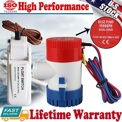 1100gph 12v Marine Boat Yacht Submersible Bilge Sump Water Pump W Float Switch