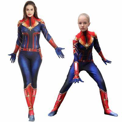 DE Captain Marvel Carol Danver Kostüm Superheld Erwachsene Party Halloween Kleid