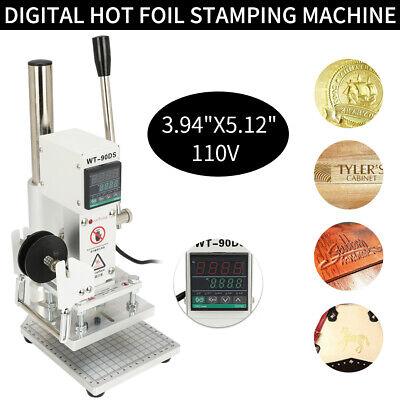 10x13cm Digital Hot Foil Printing Machine Leather Stamping Heat Press Embossing