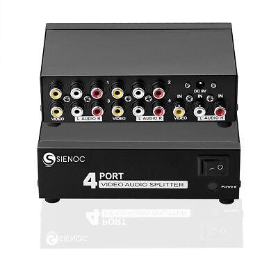 3 RCA AV Audio Video Verteiler Splitter AV Adapter Cinch HDTV Box 4 in 1 Ausgang - Video Splitter Box