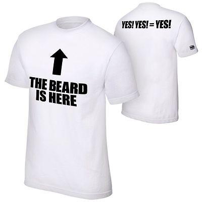 AUTHENTIC WWE DANIEL BRYAN THE BEARD IS HERE -YES! YES! YES! T-Shirt - BRAND (Daniel Bryan Yes Yes Yes T Shirt)