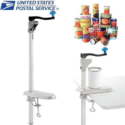 Commercial Can Opener Restaurant Kitchen Bench Table Manual Food Tank Open Tool