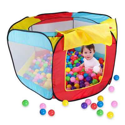 Kids Play House Indoor Outdoor Easy Folding Ball Pit Hideaway Tent Play Hut - Ball Pit Tent
