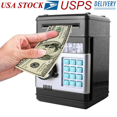 Plastic Piggy Bank (Electronic Piggy Bank ATM Password Money Coin Automatic Safe Saving Box For)