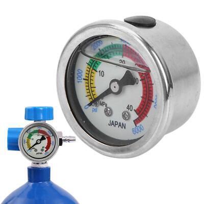 0-6000psi Air Pump Pressure Gauge High Pressure Scuba Diving Manometer Measure
