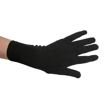 Short Wrist Length Black Costume Gloves ~HALLOWEEN THEATRICAL PROM DANCE COSPLAY (Halloween Dance)