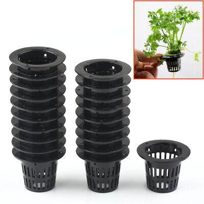 Grow Hanging Baskets - Lot X Mesh Pot Net Cup Basket Hydroponic Aeroponic Plant Grow Clone Kit Hanging
