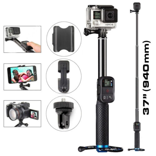 Extendable Telescopic Monopod Selfie Pole Handheld Stick for GoPro Hero 5 4 3 2