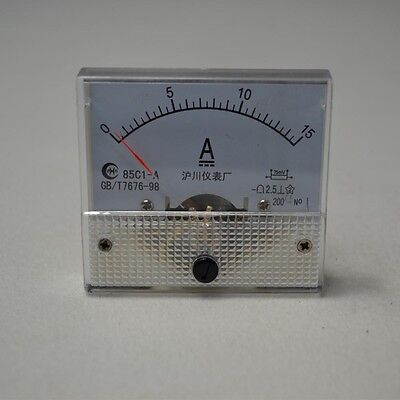 Dc 015a 85c1 Analog Amp Current Panel Meter Ammeter 15a