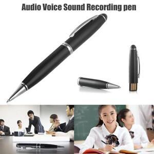 8GB Digital Voice Recorder Pen Spy Audio Device Hidden Sound Recording USB Pen