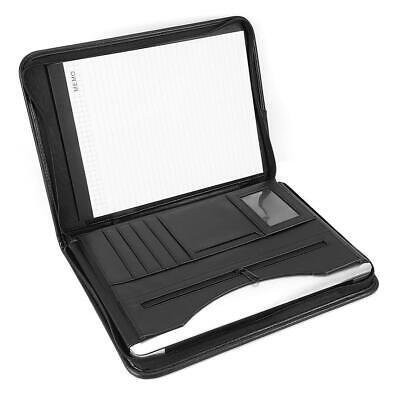 A4 Executive Conference Folder Portfolio Zipped PU Leather Organiser iPad Holder