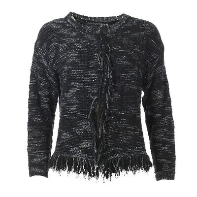 iBLUES MAX MARA Cardigan Black & Navy Cotton Blend RRP £169 BG