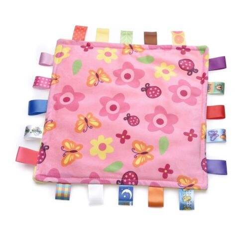 Taggy Blanket for Toddler Baby Infant Security Blanket Comfo