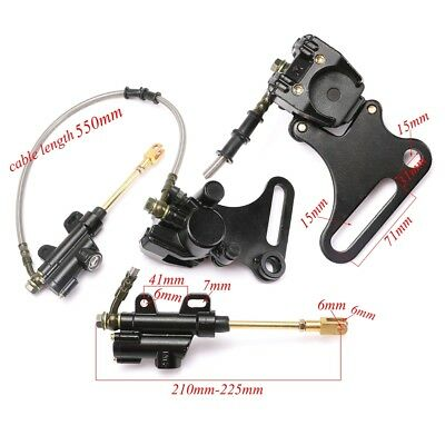Rear Hydraulic Disc Brake Caliper Master Cylinder for Motorcycle Dirt Pit Bike