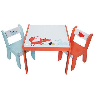 Kinder Sitzgruppe Kindermöbel 1 Kindertisch & 2 Stühle Spieltisch Massivholz NEU
