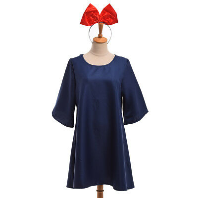 Ghibli Kiki's Delivery Service Cosplay Costume Blue Dress Halloween Fancy Dress