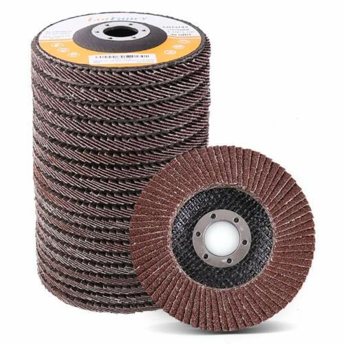 "40 60 80 120 Grit 4.5x7/8"" 4 1/2"" Aluminum Angle Grinder Flap Disc Sanding Wheel"