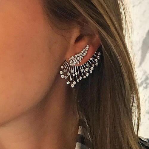 Jewellery - 1PCS Trend Punk Style Zircon Statement Ear Stud Earring Women Jewelry Gift