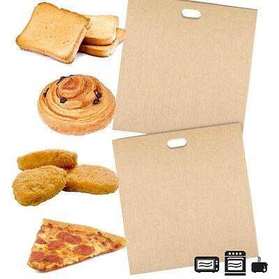 2X Utilitarian Reusable Non Stick Toaster Bags Toastie Sandwich Bread Toast Pockets