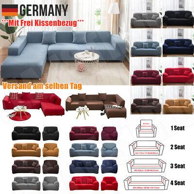1/2/3/4 Sitzer Sofa Überwürfe Sofabezug Stretch Sofahusse für Sofa Abdeckung DE