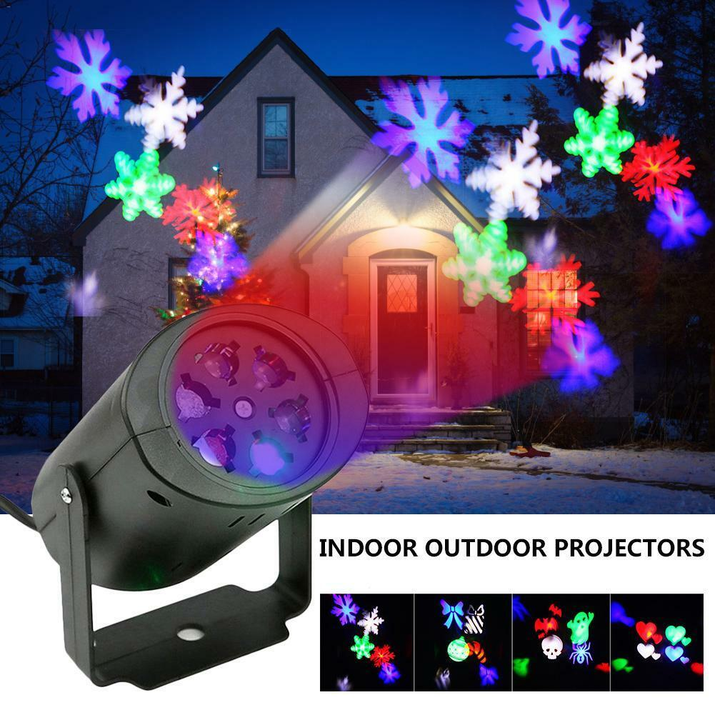 Lights Snowflake Moving Holiday Outdoor