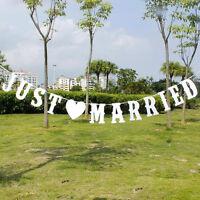 ,just Married, Boda Pancarta Decoración Fiesta Guirnalda Fotomatón Broma -  - ebay.es