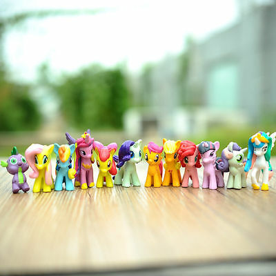 Lot of 12Pcs My Little Pony Cake Toppers PVC Action Figures Kids Girl Toy Dolls