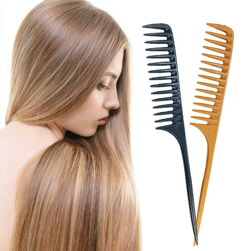 Tearsheet Carbon Wide Tooth Rake Comb with Tail - Beach wave
