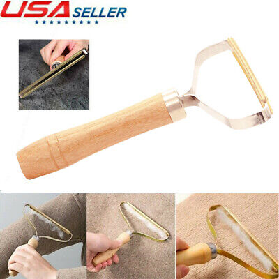 Sweater Clothes Lint Remover Wooden Trimmer Shaver Manual Portable Clothing Care