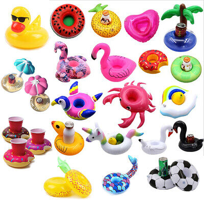 4/100x Inflatable Floating Unicorn Flamingo Drink Cup Holder Swimming Pool Beach](Flamingo Drink Holder)