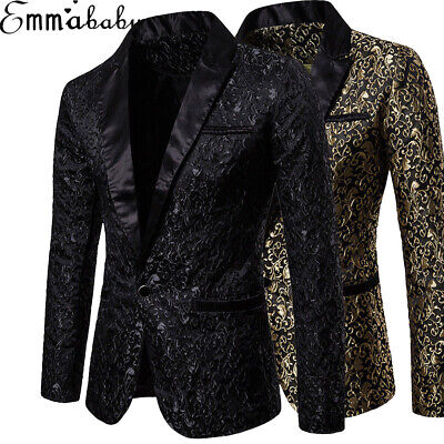 LUXURY Men's Suit Coat Casual Slim Formal One Button Blazer Jacket Tops Casual