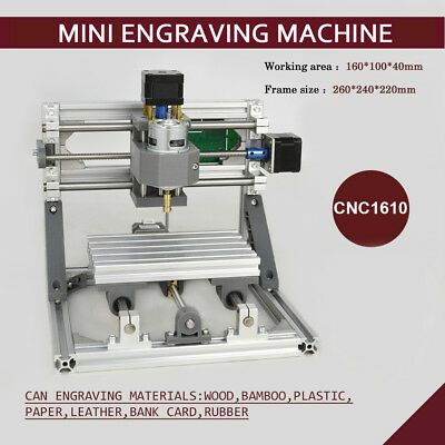 3 Axis Cnc Router Mini Wood Carving Machine 1610 Pcb Milling