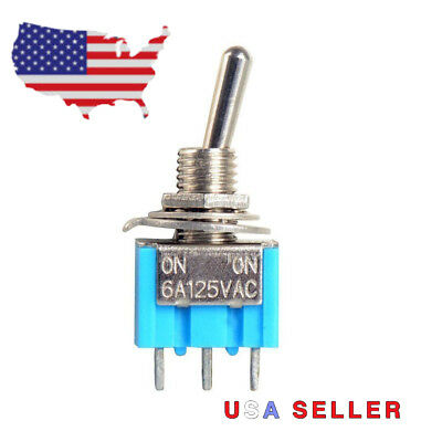 Industec Mini Toggle Switch - On-on Solder Pin Quality 2 Position Mts-102 Spdt
