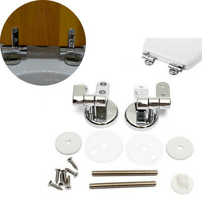 2Pcs Chrome Replacement Toilet Seat Hinge Toilet Mountings Accessories New
