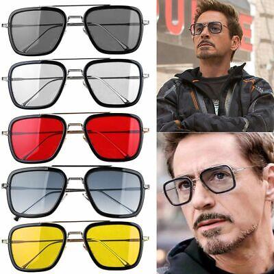 Tony Stark Men Sunglasses Flight 006 Fashion Avengers Iron Man Glasses (Tony Stark Sunglasses)