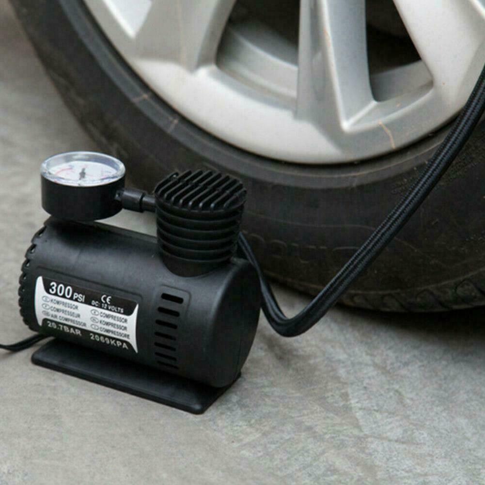 300PSI DC 12V Portable Electric Mini Tire Inflator Pump New