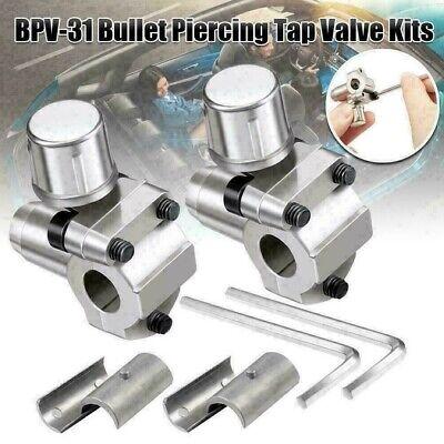 2 Pieces Bullet Piercing Valve Pipe Faucet Bpv31 Hvac Refrigerator Parts Replace