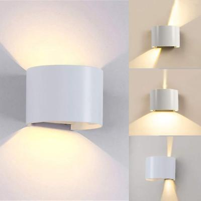 Half Wall Sconce Lamp - Outdoor Up Down Wall Sconce Lamp COB 12W LED Waterproof BD81 Half Round Light