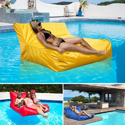 Swimming Pool Floating Bean Bag Soft Lounge Chair Sofa Cover Reading Relaxing