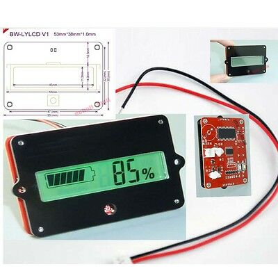 Lead acid battery indicator Battery Capacity Tester LCD meter Practical 12V-48V