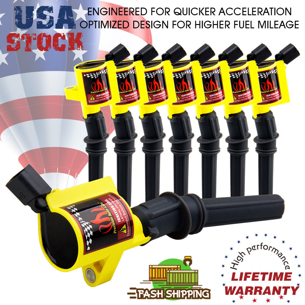 Ignition Coil 10 Pack For Ford F150 F250 F550 Lincoln V8 4.6L 5.4L DG508 Mercury