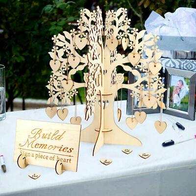 Wedding Wooden Wishing Tree Guest Book Decoration