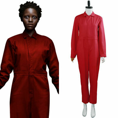 2019 Us Adelaide Wilson Zora Wilson Costume Cosplay Red Jumpsuit Glove Halloween - Adelaide Halloween Costumes