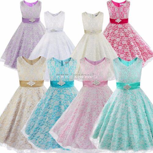 Flower Girl Princess Dress Kids Party Pageant Wedding Bridesmaid ...